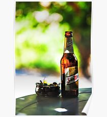Siesta Time. Beer and Olives Poster