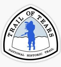 Trail of Tears Trail Sign, USA Sticker