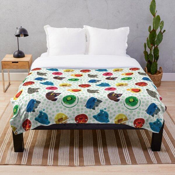 Cute Slime Rancher Pattern Throw Blanket