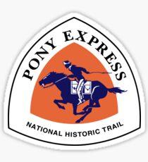 Pony Express Trail Sign, USA Sticker