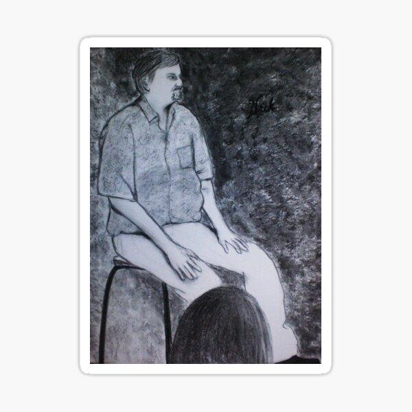 Seated Figure - Nick Sticker