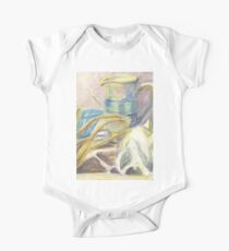 Skull & Pitcher Color Pencil & Water colour One Piece - Short Sleeve