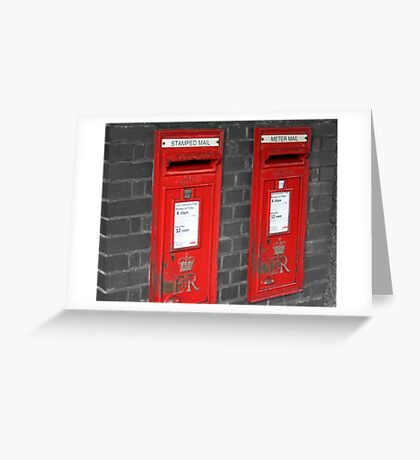 Post boxes Greeting Card