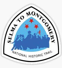 Selma to Montgomery Trail Sign, Alabama, USA Sticker