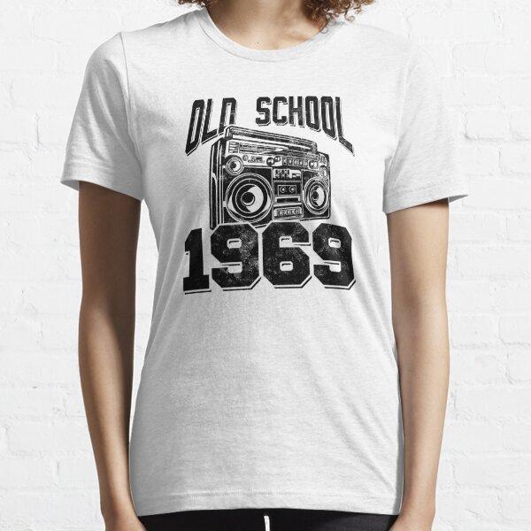 Old School Radio Boombox 1969 Distressed Birthday Essential T-Shirt