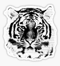 Black and White Tiger Face  Sticker