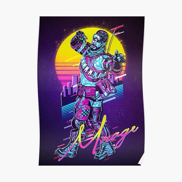 Apex Legends - Mirage des années 80 rétro Poster