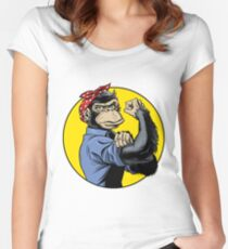 Chimp Power! Women's Fitted Scoop T-Shirt