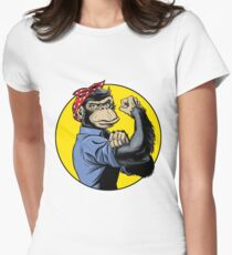 Chimp Power! Women's Fitted T-Shirt