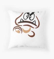 Goomba with Attitude Throw Pillow