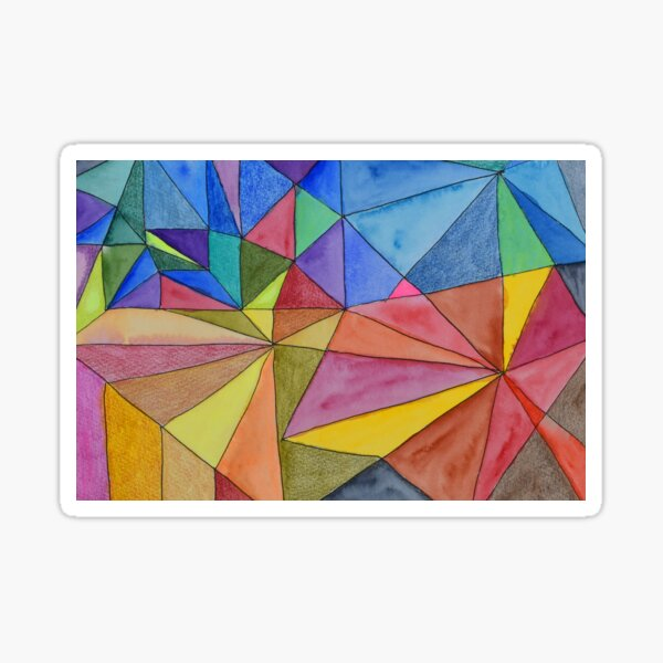 Triangles in Different Planes Sticker