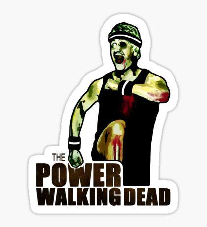 The Power Walking Dead (on White) [ iPad / iPhone / iPod Case   Tshirt   Print ] Sticker