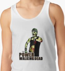 The Power Walking Dead (on White) [iPad / Phone cases / Prints / Clothing / Decor] Tank Top