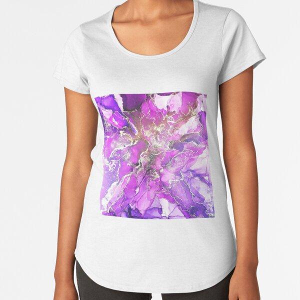 Alcohol Ink deep purple Premium Rundhals-Shirt