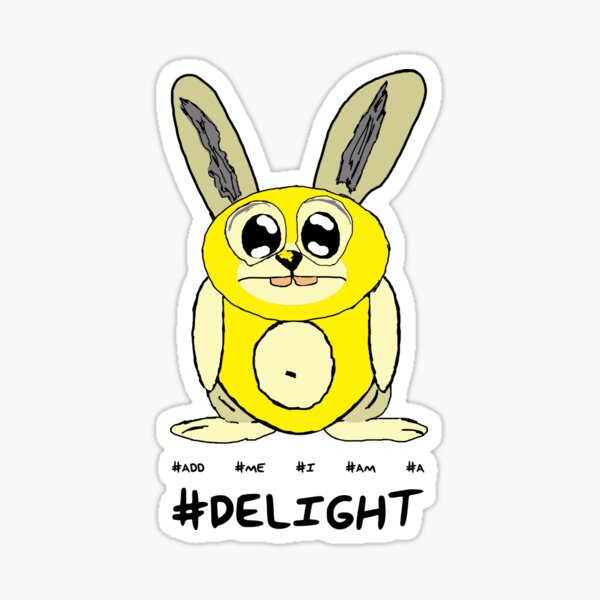 Bunny Delight - Aqua Libra. Sticker