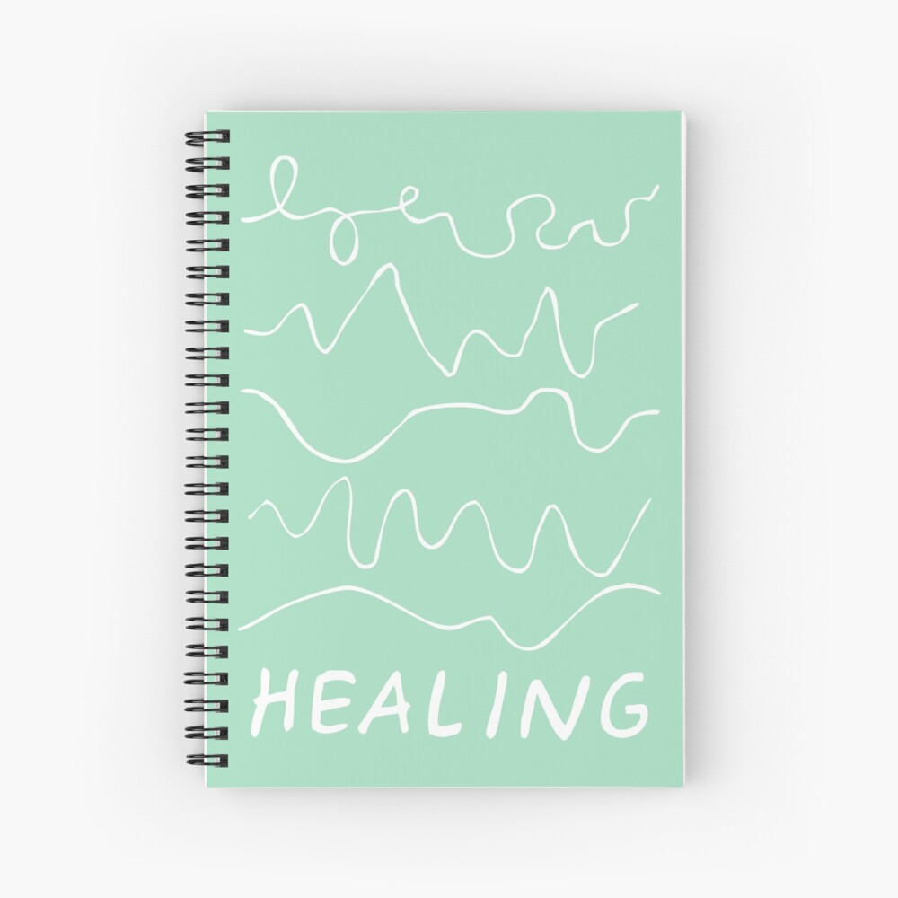 healing is not linear   healing squiggles  Spiral Notebook