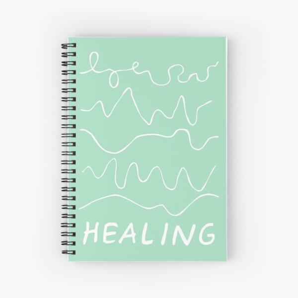 healing is not linear | healing squiggles  Spiral Notebook
