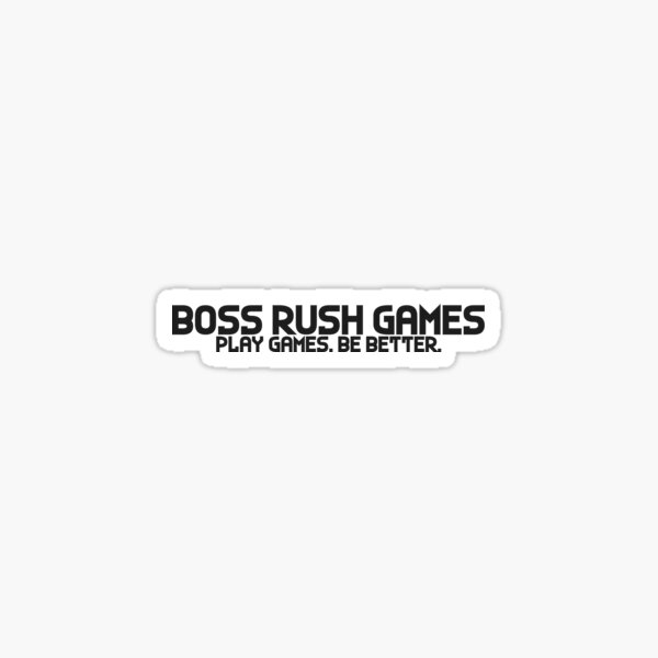 Boss Rush Games Brand Charcoal Sticker