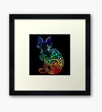 Inked Cat Framed Print