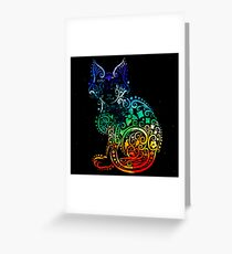 Inked Cat Greeting Card