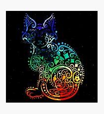 Inked Cat Photographic Print