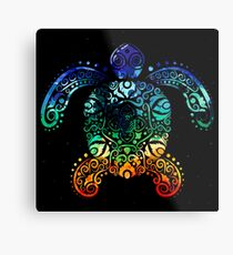 Inked Sea Turtle Metal Print