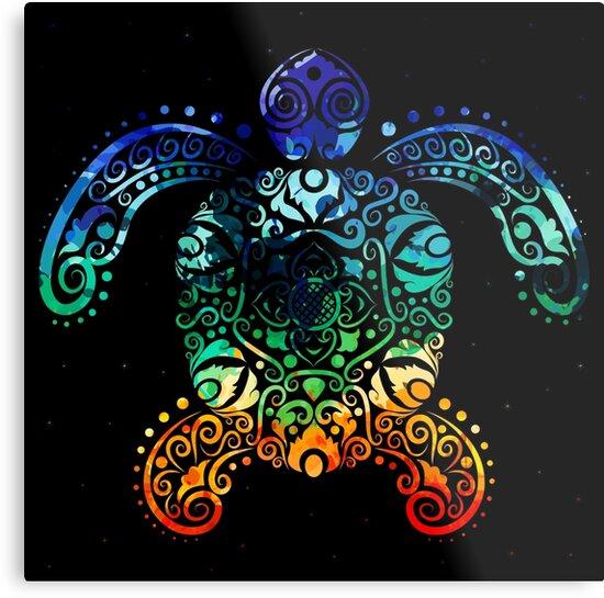 Inked Sea Turtle by Sol Noir Studios