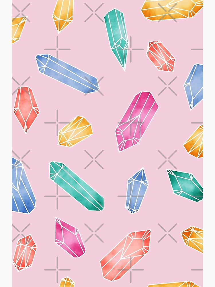 Crystals Pattern - Candy Pink by PrintablesP