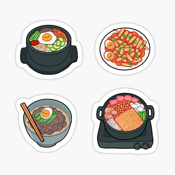 korean food set 1 Sticker