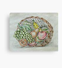 basket fruits  Canvas Print