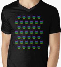 Geek Cats Men's V-Neck T-Shirt