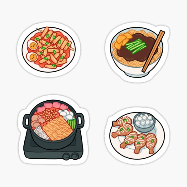korean food set 2 Sticker