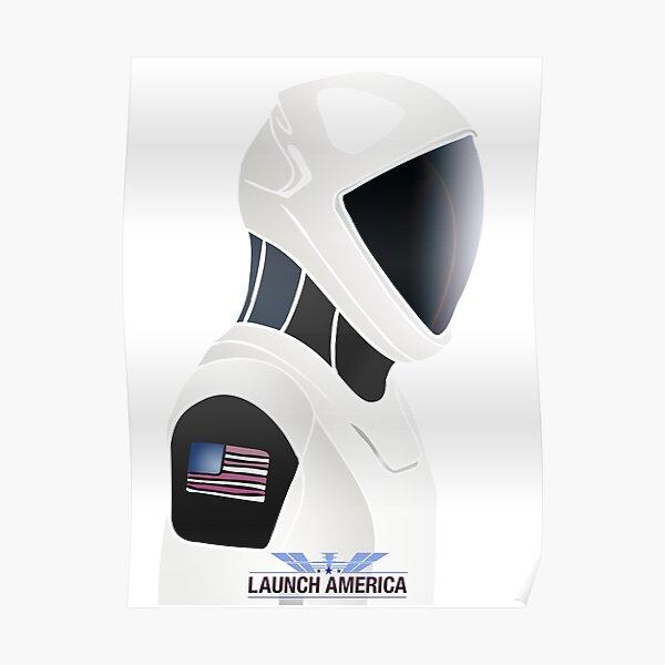 SpaceX and NASA Crew Dragon Launch America Poster
