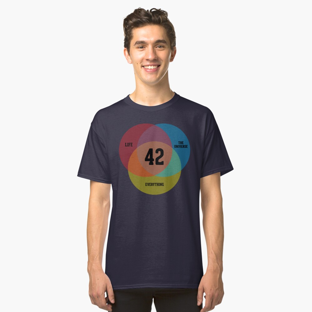Venn Diagram: Life, the Universe & Everything Classic T-Shirt