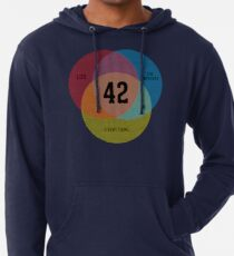 Venn Diagram: Life, the Universe & Everything Lightweight Hoodie