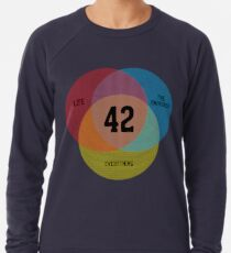 Venn Diagram: Life, the Universe & Everything Leichtes Sweatshirt