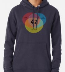 Venn Diagram: Life, the Universe & Everything Pullover Hoodie