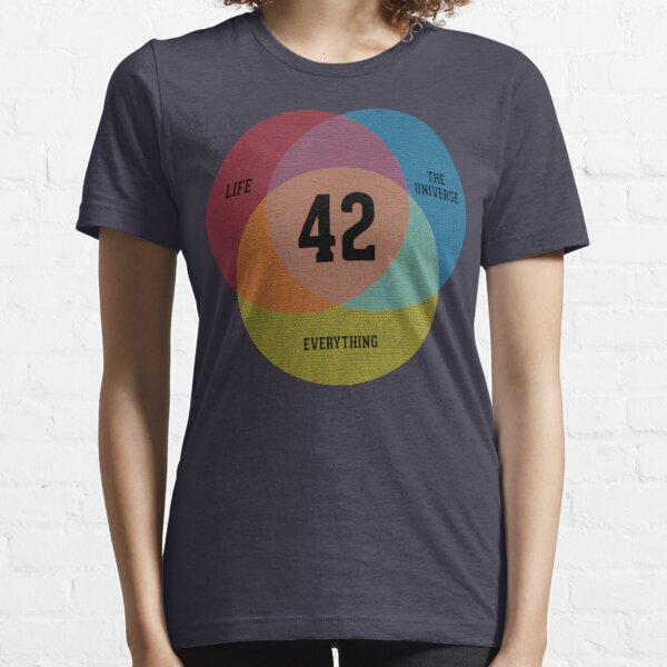 Diagramme de Venn: la vie, l'univers et tout T-shirt essentiel