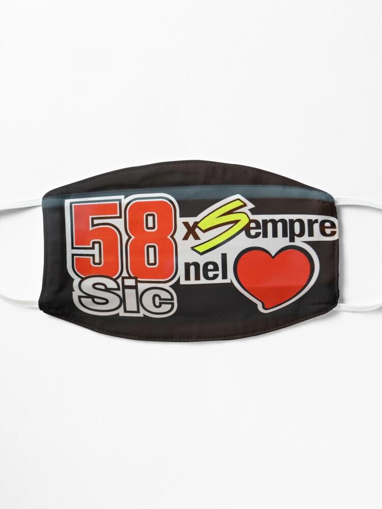 Masque ''Marco Simocelli était l'un des meilleurs pilotes du MtoGP': autre vue
