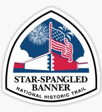 Star-Spangled Banner Trail Sign, USA Sticker