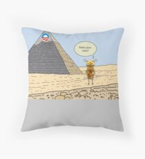 Obama and the Ant at the Pyramids 2012 Throw Pillow