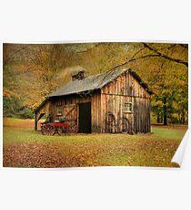 Autumn At Millbrook Village - The Blacksmith Shop Poster