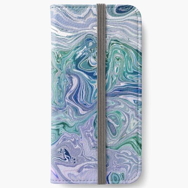 Dutch Marble Acrylic Paint Pour iPhone Wallet