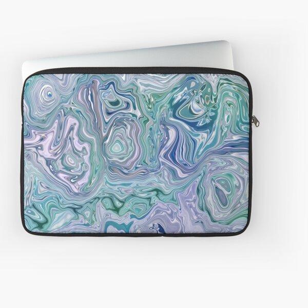 Dutch Marble Acrylic Paint Pour Laptop Sleeve