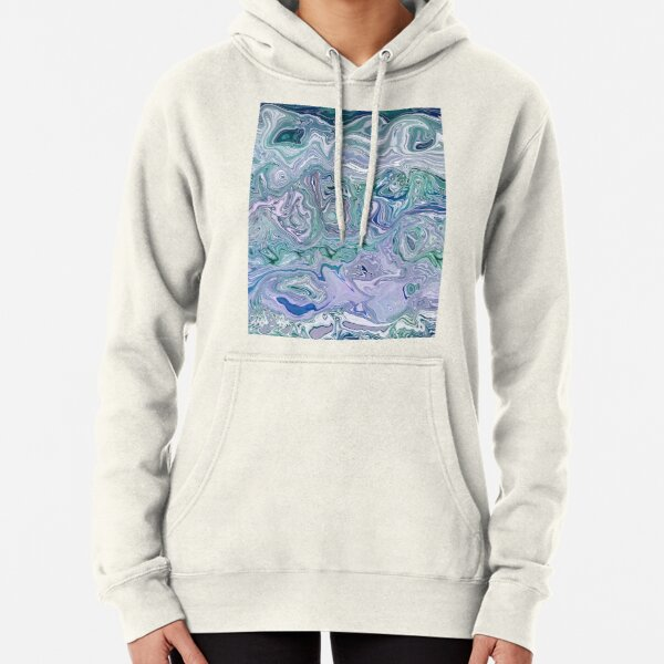 Dutch Marble Acrylic Paint Pour Pullover Hoodie