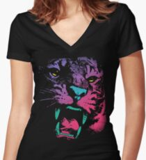 Wild PoP Thing Women's Fitted V-Neck T-Shirt