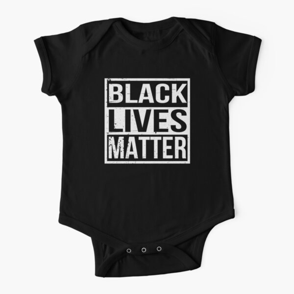 black lives matter Short Sleeve Baby One-Piece