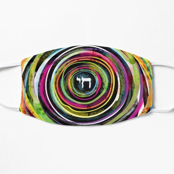 Jewish Chai Rainbow Circles Face Mask Flat Mask