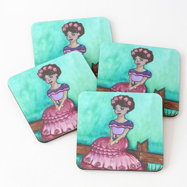 Mexi girl Coasters (Set of 4)