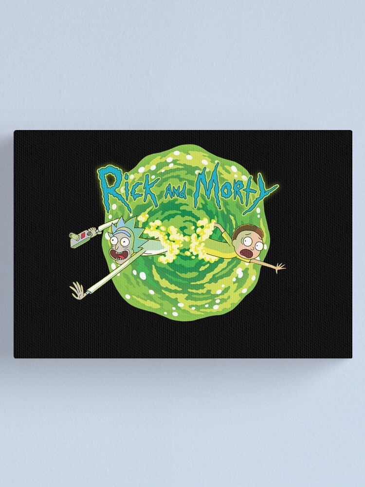 Alternate view of Rick and Morty black background  Canvas Print